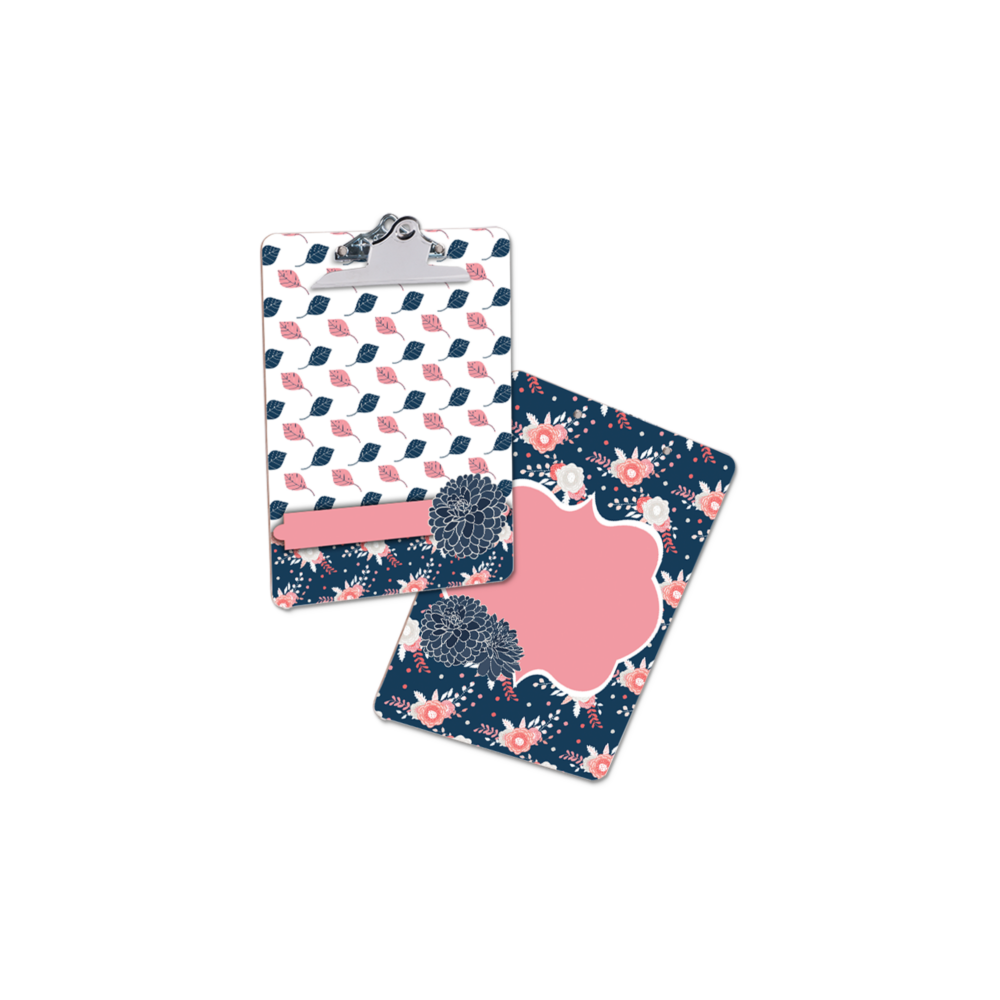 Clipboard Navy Pink blank MOCK UP