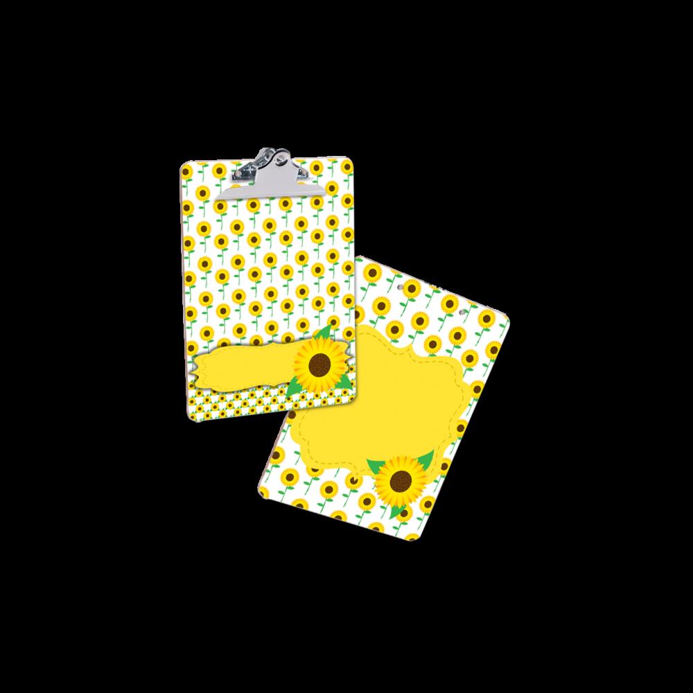Clipboard Sunflower blank MOCK UP