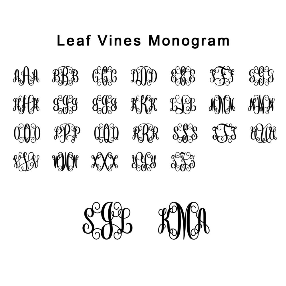 Leaf VineMonogram-opaquebg