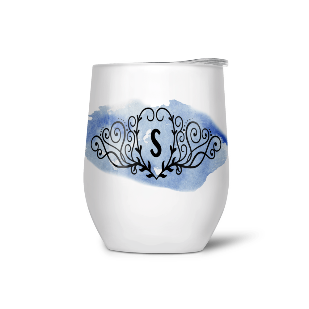 WineTumbler with initial